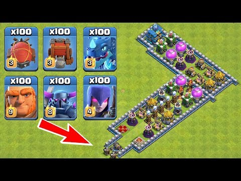 Who Can Survive This Difficult Trap on COC? Trap VS Troops #32