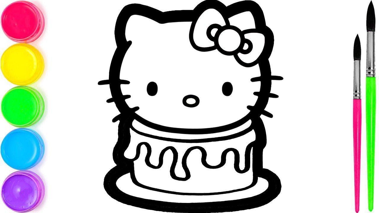 Hello Kitty Johnny Rainbow Cake Belajar Menggambar Dan Mewarnai Untuk Anak Anak