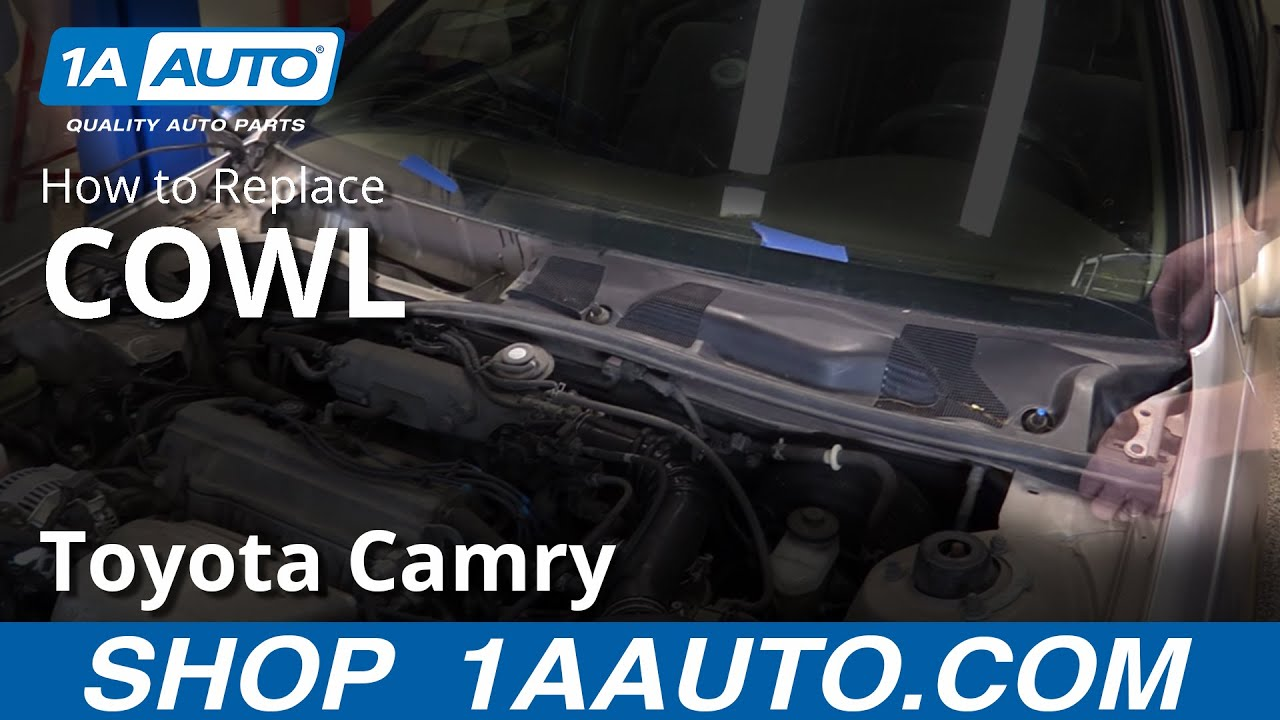 hight resolution of how to replace cowl air grill 97 01 toyota camry