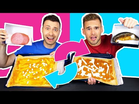 PIZZA MYSTERYBOX WISSEL CHALLENGE | Thomas & Rutger