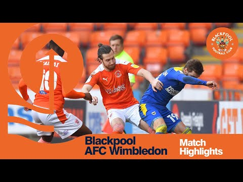 Blackpool AFC Wimbledon Goals And Highlights