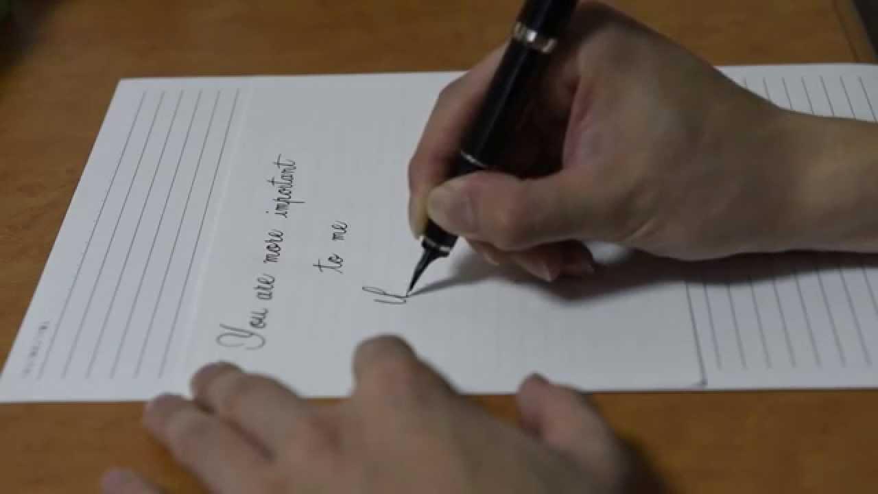 Fountainpen writing love letter youtube fountainpen writing love letter altavistaventures Gallery