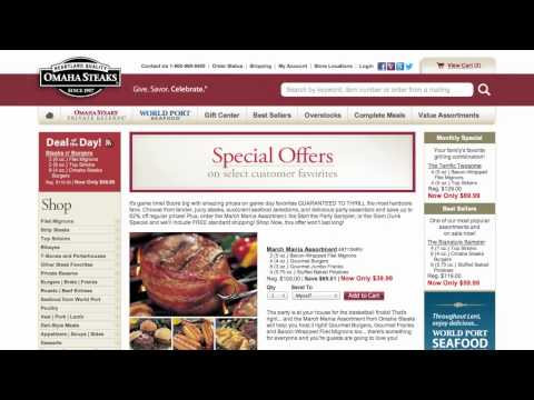 Omaha Steaks Coupon Code - How To Use Promo Codes And Coupons For OmahaSteaks.com