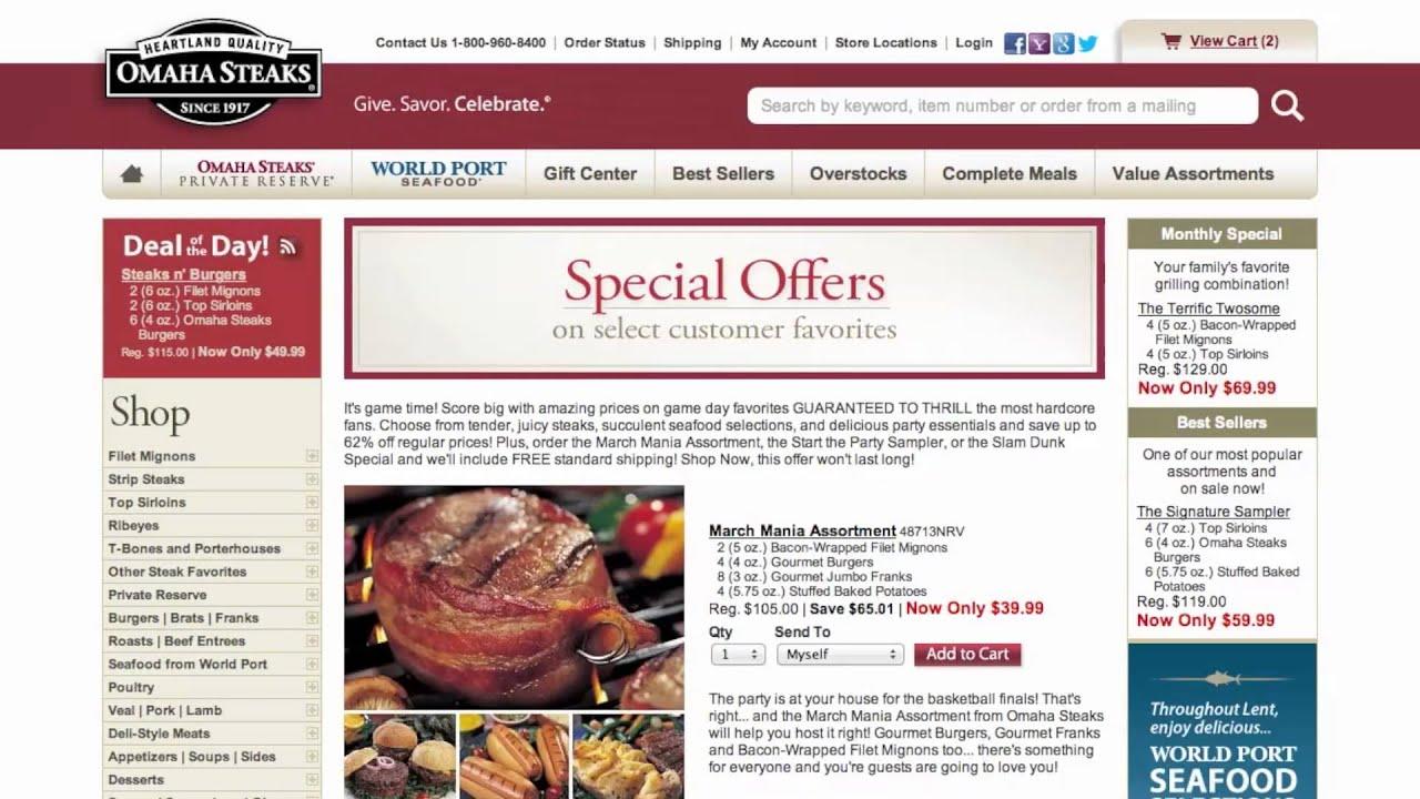 omaha steak coupon code free shipping