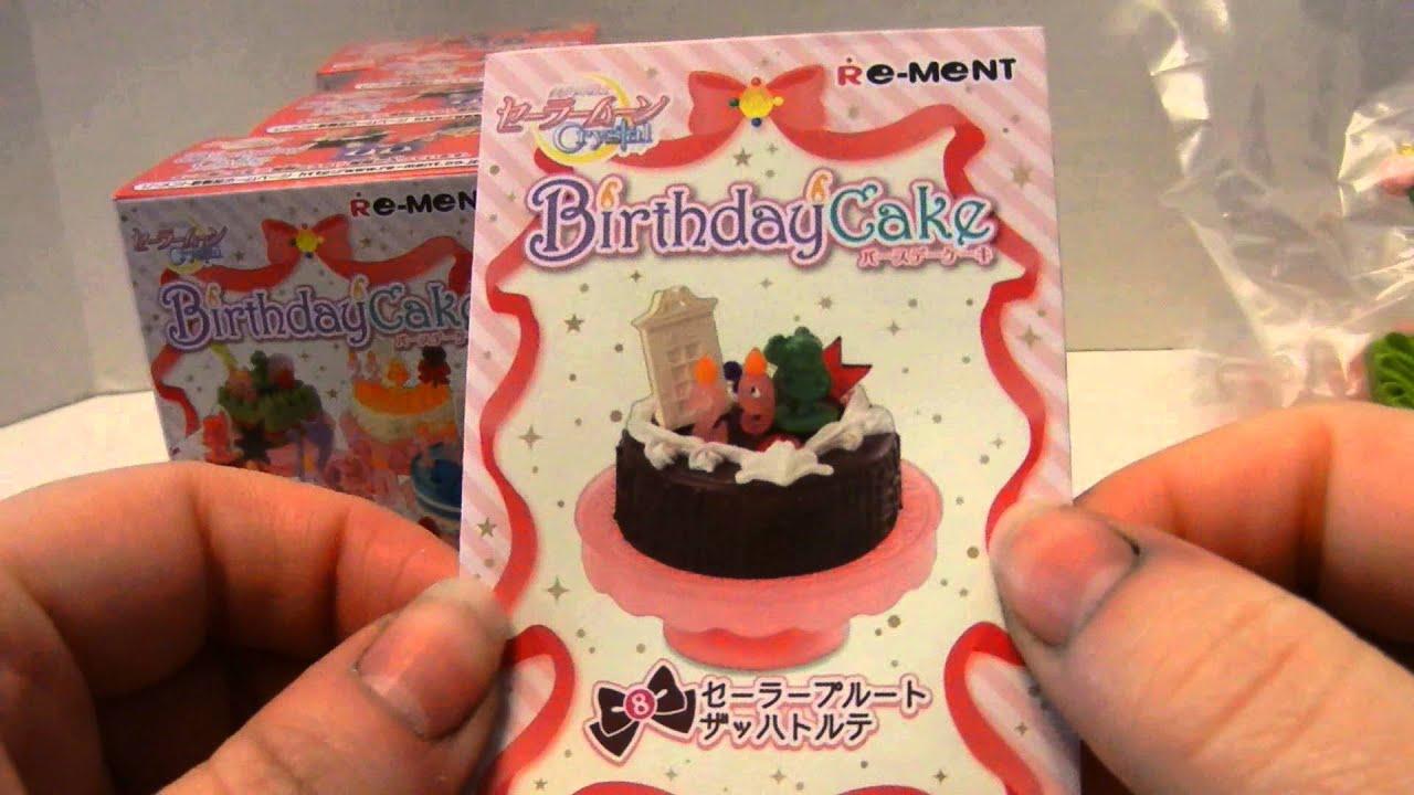 Sailor Moon Crystal Re Ment Birthday Cake Set Youtube