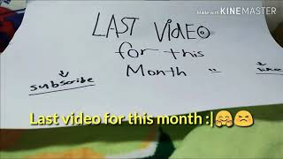 Last video for this month