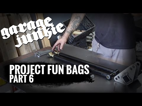 How To Bag A Truck : Setting Up Parallel 4 Link, Fish Plates, And Rear Cross Member