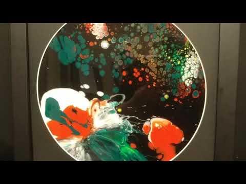 Abstract Wall Art on Vinyl Records - Fluid Acrylic Art Paintings