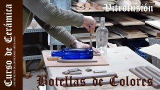 Curso de Cerámica - Fundir Botellas de Colores de Vidrio Fusing - Vitrofusion  - Parte 1
