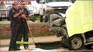 2 Die When Van, Dump Truck Collide