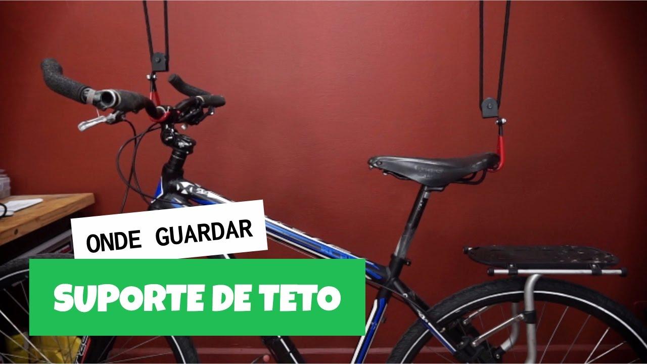 fe9662e25 Suporte de teto para bicicletas - YouTube