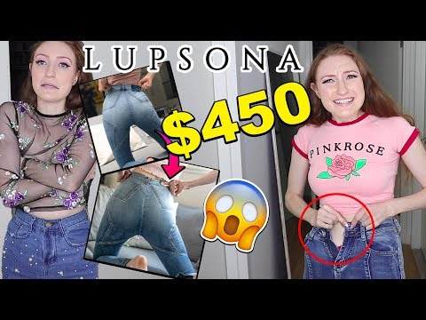$450 LUPSONA HAUL AND TRY ON!! ARE THEY SCAMMING THEIR CUSTOMERS??? EXPECTATION VS REALITY