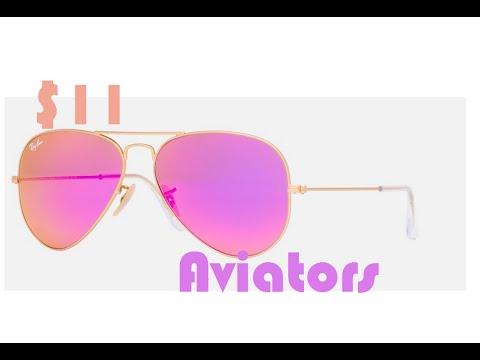 Unboxing: $11 polarized Purple Ray-Ban aviator sunglasses pilot 58mm purple