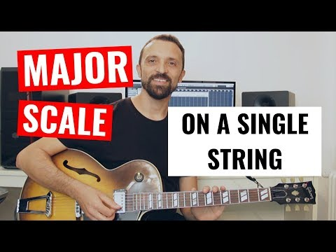 Guitar Tip #6 - Major Scales On A Single String (Two Exercises)