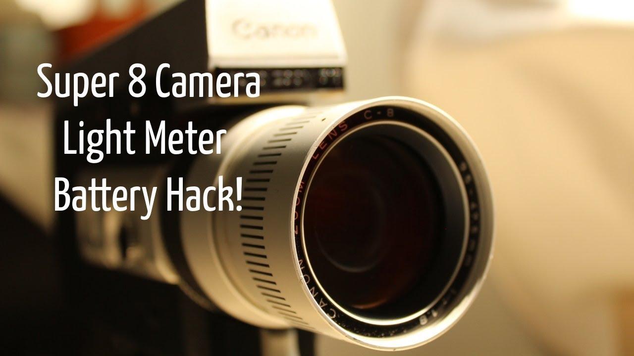 Super 8 Camera Light Meter Battery Hack!