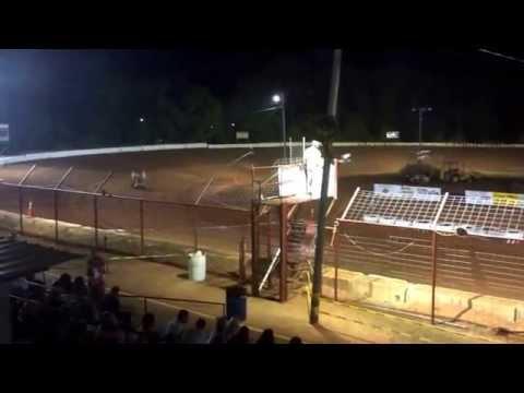 Gulf Coast Winged Mini Sprint Series heat race 2 Flomaton Speedway 4-26-14