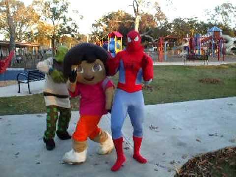 Playtime Rentals 225s Piderman Dora Shrek Ah Bay Bay Youtube