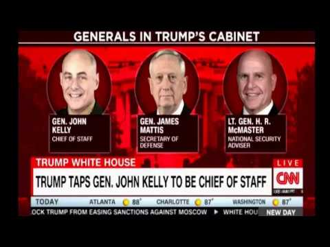 General Kelly's first day on the job as Chief of Staff can he bring order and disciplin the White Ho