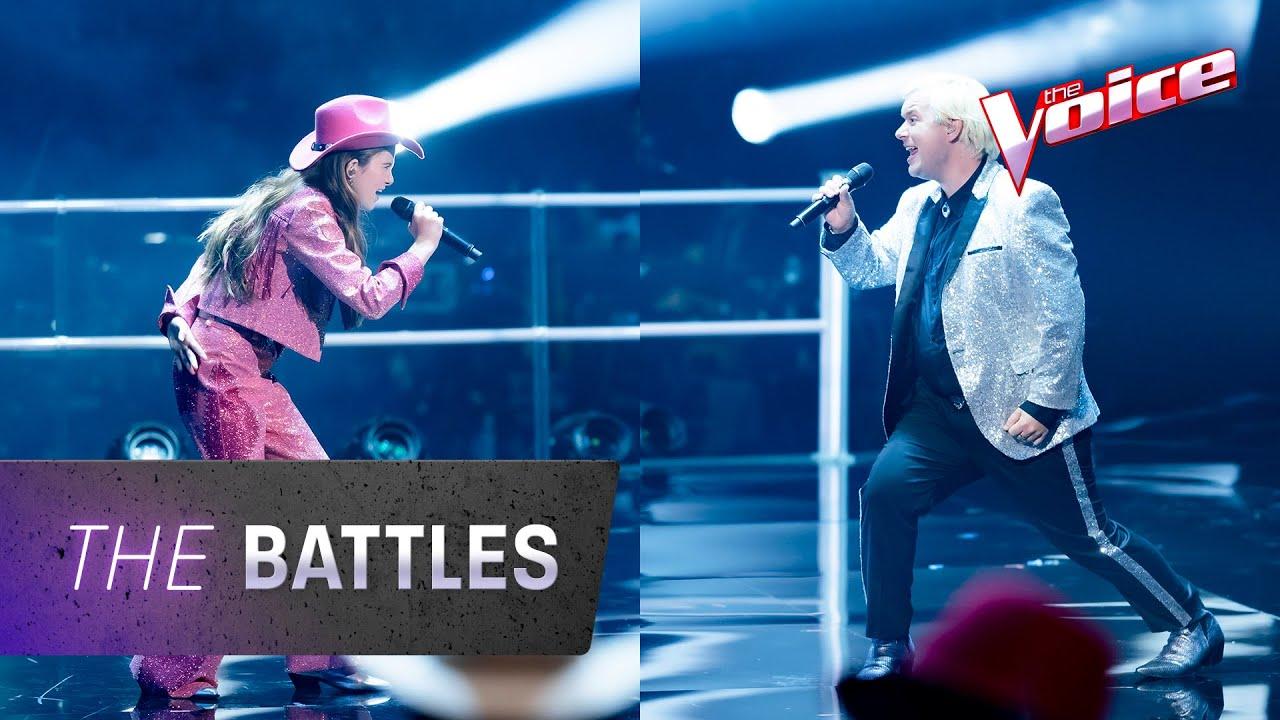 The Battles: Emmagen Rain v Callum Gleeson 'Footloose' | The Voice Australia 2020