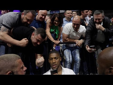 GO ON AJ LAD! -ANTHONY JOSHUA MAKES TIME FOR FANS AFTER TONY BELLEW DRAMATIC WIN OVER DAVE HAYE (2) - YouTube