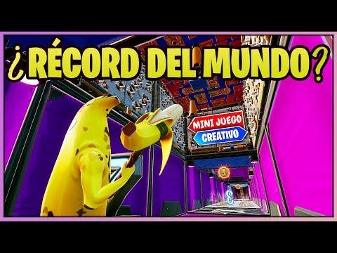 WORLD RECORD *PARKOUR AL REVES* (FORTNITE MINIJUEGOS)