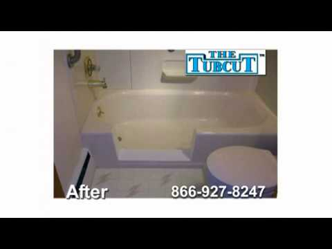 The Tubcut fantastic service that converts your tub to a walk in shower NY NJ & PA