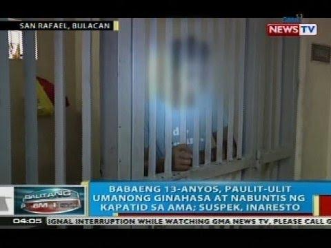 BP: 13-anyos na babae sa Bulacan, paulit-ulit umanong ginahasa at nabuntis ng kapatid sa ama
