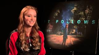 Maika Monroe 'IT FOLLOWS' movie interview