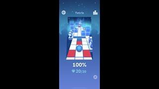Rolling Sky lvl 8 Tetris 100% All Gems