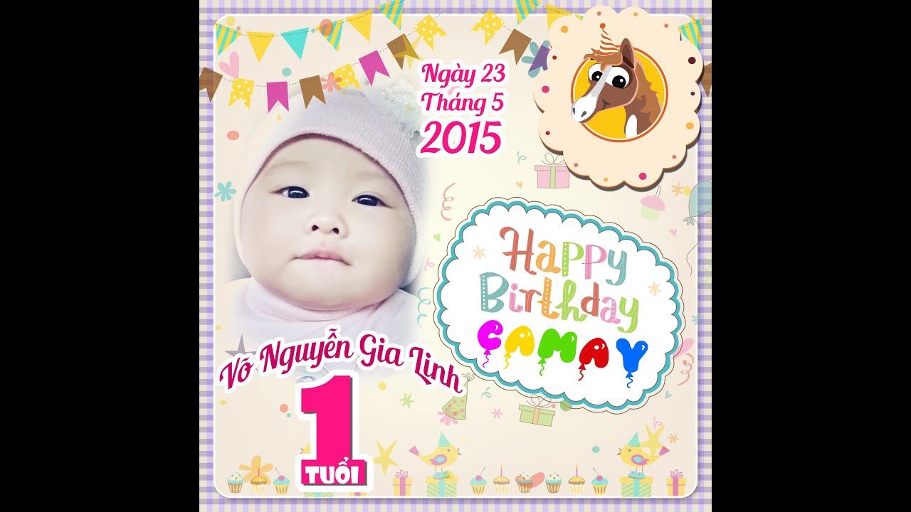 Happy First Birthday Camay