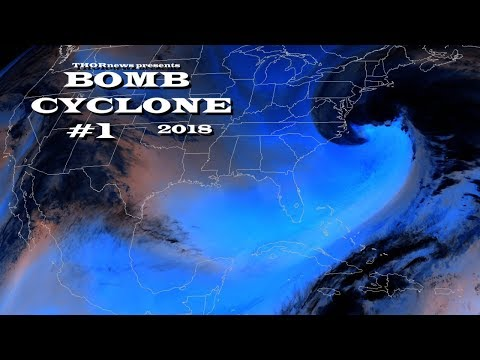 East Coast BOMBCYCLONE - 1 of the fastest intensifying cyclones EVER!
