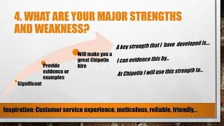 Top 5 Chipotle Mexican Grill Interview Questions and Answers
