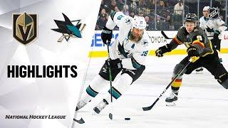 NHL Highlights | Sharks @ Golden Knights 11/21/19