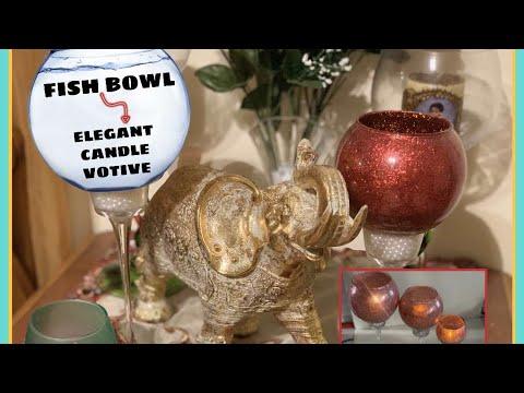 DIY Ordinary Fish Bowls Into Elegant Candle Votives - Dollar Tree