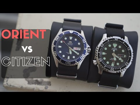 Orient Blue Ray II vs Citizen Promaster NY0040