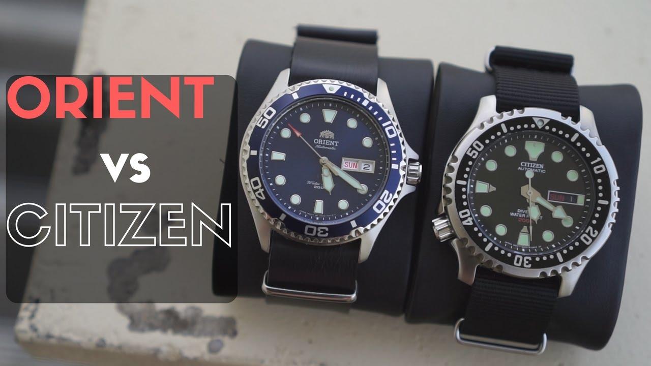 Orient Blue Ray Ii Vs Citizen Promaster Ny0040 Youtube