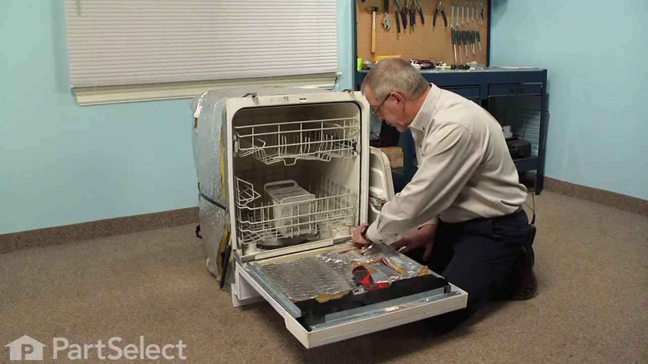 Dishwasher Repair  Replacing the Inner Door Foam