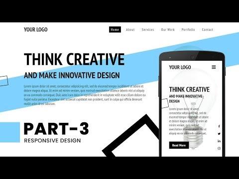 Responsive Landing Page Design Using Html CSS & Javascript | Responsive Website thumbnail