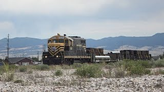 Butte, Anaconda and Pacific Railway MOW Movement at Anaconda, MT 8/02/19
