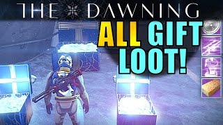 Destiny: ALL GIFT LOOT! | Saladin's, Xur's & Amanda's Gifts Opened! | The Dawning