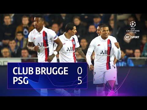 Club Brugge vs PSG (0-5)   UEFA Champions League Highlights