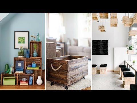 💗5 Smart Ways How To Reuse Unused Wood Crate💗