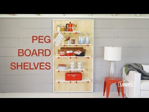 DIY: Decorative Pegboard Shelving Unit