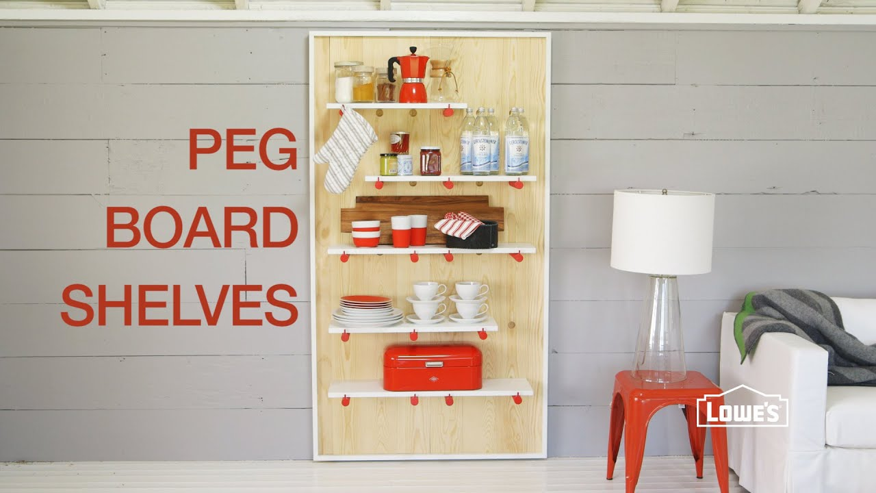 Diy Decorative Pegboard Shelving Unit Youtube