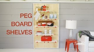 Diy: Decorative Pegboard Shelving Unit