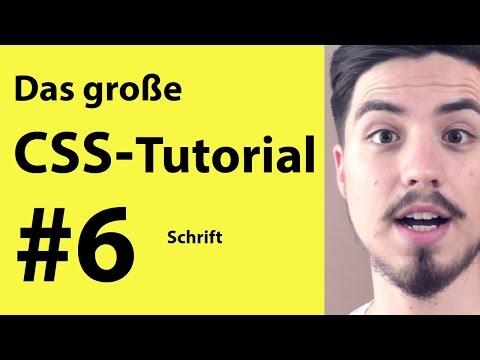 Schrift Und Fonts In CSS + HTML Tutorial | Grundkurs Für Anfänger #6 Deutsch
