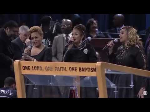 The Clark Sisters singing at Aretha Franklin's Funeral