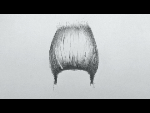 ASMR - drawing a woman's hair