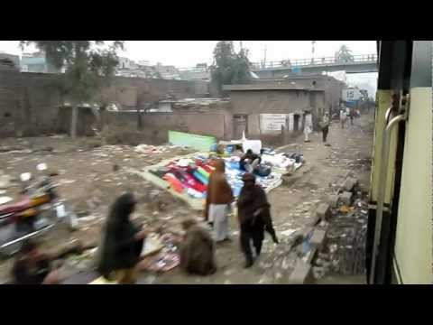 peshawar: Train arriving peshawar city station