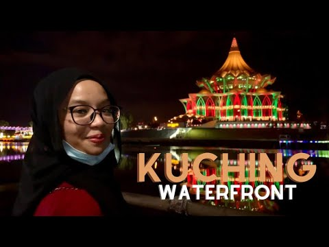 A tour in Kuching Waterfront! ❤️💛🖤